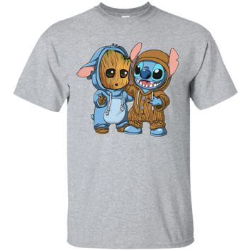 Groot And Stitch Forever T Shirt Ultra Cotton T-Shirt