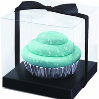 Wilton 415-0391 Black-Clear Cupcake Box Kit, 20 Count- Discontinued By Manufacturer