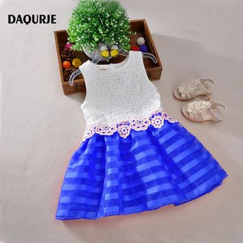 2018 Summer Girls Dresses Sleeveless Lace Crochet Tutu Princess Dress Kids Girl Party Clothes Children Costume Vetement Fille