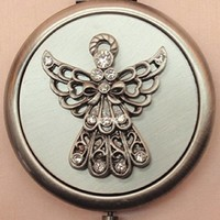 Angel Pewter Compact Mirror