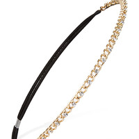 FOREVER 21 Rhinestoned Chain Headband Gold One