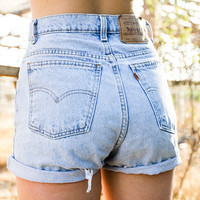 Vintage Levi's High Waisted Shorts