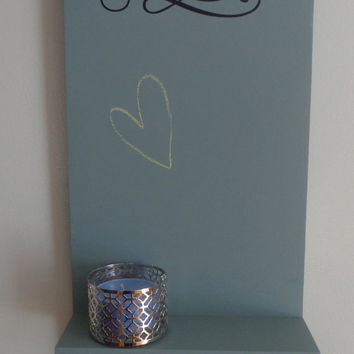 Customizable Chalkboard Shelf With Sign