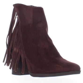 madden girl Shaare Side Fringe Western Boots, Brown, 5 US