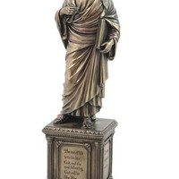 Socrates Unexamined Life Ancient Greek Philosopher Statue 14.5H