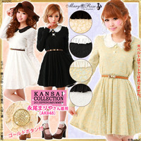 Rakuten: [Hot sales item!!Frill collar all race flare dress.- Shopping Japanese products from Japan