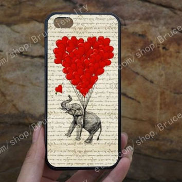 Elephant heart iPhone Case,phone case,samsung case,galaxy S5 case,iPhone 5C 5/5S 4/4S,samsung galaxy S3/S4/S5,Personalized Phone case