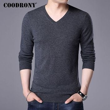 Sweater Men Winter Knitwear Multi color V-Neck Pull Home Cashmere Pullover Men Wool Sweaters