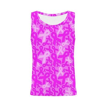 Breast Cancer Awareness Design 1 Women's All Over Print Tank Top