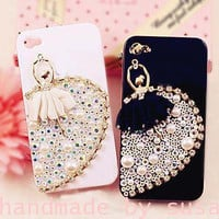 ballet dancer iphone 4/4s iphone 5 case bling by IPhoneCasesDIY