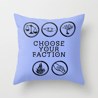 Divergent - Choose your faction Throw Pillow by Lunil