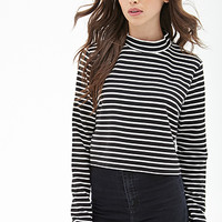 FOREVER 21 Ribbed Stripe Top