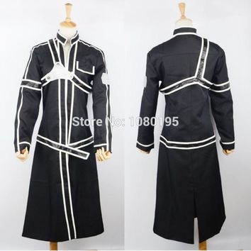MAN Novetly Cosplay Clothing Unisex Anime Sword Art Online Kirito Kazuto Kirigaya Cosplay Co92267