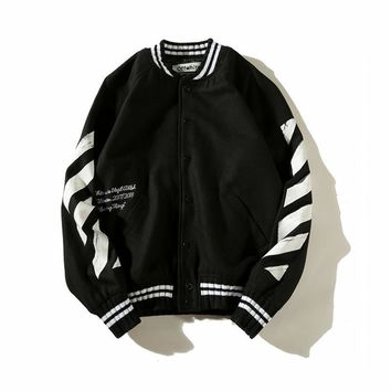 qiyif Off White Painting Arrow Jacket