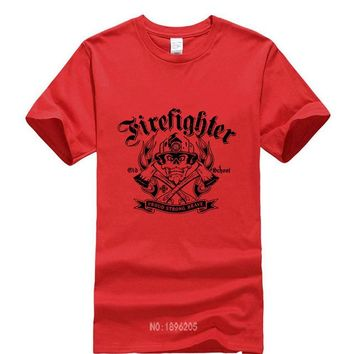 Firefighter - Old School - Proud Strong Brave - T-shirt