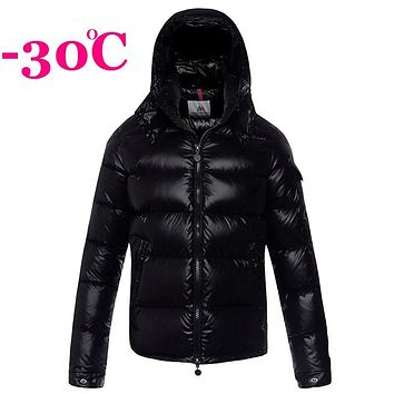 Winter Men's Down Jackets Shiny Down Coat Boys Hooded Down Jacket Male Thick Snowsuit Outwear Turtleneck RED BLACK 2XL