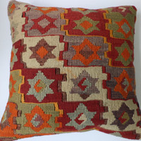 Historic Old pillow Retro Pillow Kilim pillow Hand Woven Kilim Pillow Cover Bohemian Pillow Old Cushion Decorative Pillows 16/16