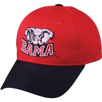 Alabama Crimson Tide YOUTH Adjustable Velcro Cap/Hat, NCAA Official Licensed College Replica Baseball/Football Hat