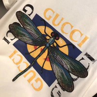 NEW 100% Authentic gucci 2018ss dragonfly t shirt  ※011