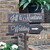 Personalized Directional Wedding Sign