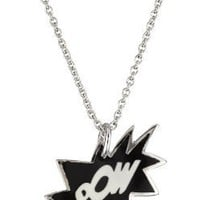 "Andrew Hamilton Crawford ""Fantasy"" Sterling Silver and Black and White Enamel Paw! Pendant Necklace"