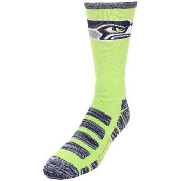 SEATTLE SEAHAWKS PATCHES QUARTER LENGTH SOCKS SIZE LARGE NEW FOR BARE FEET