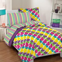 Dream Factory Rainbow Bed Set (Purple)