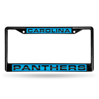 Carolina Panthers NFL Laser Cut Black License Plate Frame