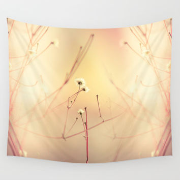 Burning flowers Wall Tapestry by HappyMelvin