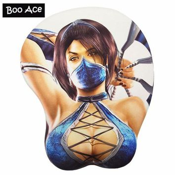DCCKFS2 KITANA Sexy Anime Gaming Mouse Pad Big Soft Breast 3D Gaming Mouse Pad Wrist Rest