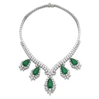 Important emerald and diamond necklace, Harry Winston | Lot | Sotheby's