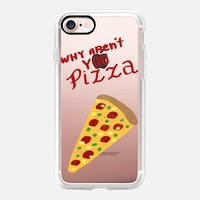 Why aren't you Pizza iPhone 7 Case by Vasare Nar | Casetify
