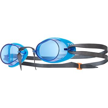 Tyr - Socket Rockets Blue + Black Swim Goggles / Blue Lenses