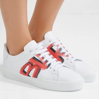Burberry Logo-print Leather Sneakers #413