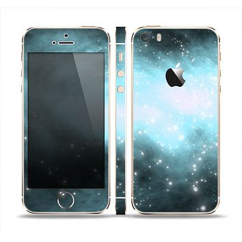 The Light & Dark Blue Space Skin Set for the Apple iPhone 5s