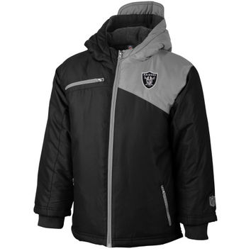 Oakland Raiders Toddler Refract Heavyweight Jacket – Black - http://www.shareasale.com/m-pr.cfm?merchantID=7124&userID=1042934&productID=547702620 / Oakland Raiders