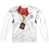 The Flash Barry Allen Sublimated Mens Long Sleeve Costume T-Shirt