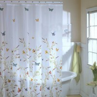 Maytex Garden Flight Vinyl Shower Curtain - 58840 - Shower Curtains - Shower Curtains & Accessories - Bed & Bath