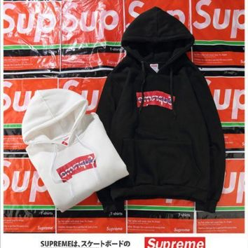 ONETOW Supreme Wrinkled hoodies plus cashmere sweater men and women jacket lovers