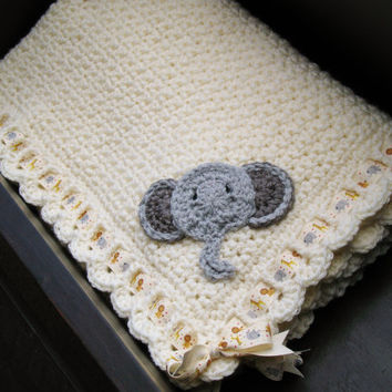 Jungle Animals Baby Blanket, Noah's Ark, Safari Theme, Unisex, Beautiful Baby Shower Gift