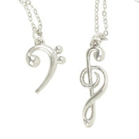 LOVEsick Clef Best Friend Necklace Set