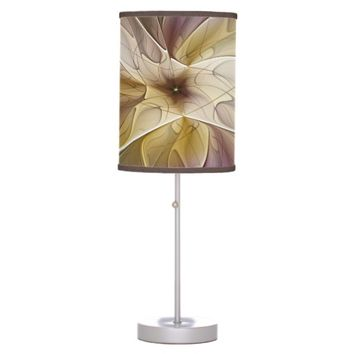 Floral Fantasy Pattern Abstract Fractal Art Desk Lamp