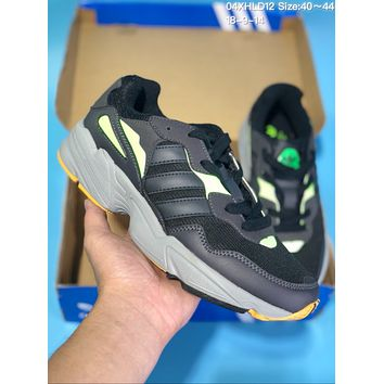 HCXX A333 Adidas Yeezy 600 Ratro Casual Running Shoes Dark Grey Black