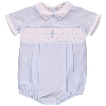 Carriage Boutique Christening Bodysuit (Baby Boys) | Nordstrom