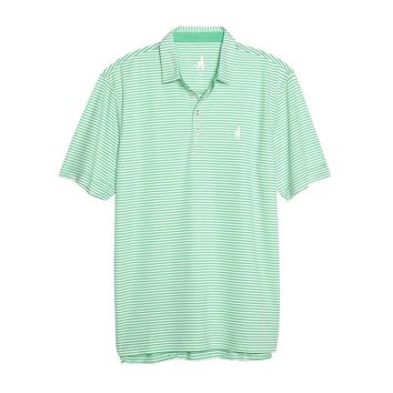 Bunker Striped Prep-Formance Polo in Palm by Johnnie-O
