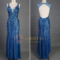Instock and ready to ship Royal Backless Mermaid Long Crystal Stone Evening Dress 2015, View Evening Dress, Chaozhou Choiyes Evening dress Product Details from Chaozhou Choiyes Evening Dress Co., Ltd. on Alibaba.com
