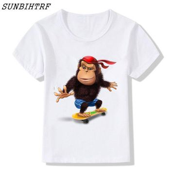 Punk Hipster T-shirt Newest 2018 Children Fashion Cool Funny  T-Shirt kids Hipster Cool Short Sleeve Tee Tops Clothing Boy/Girl t-shirts AT_47_3