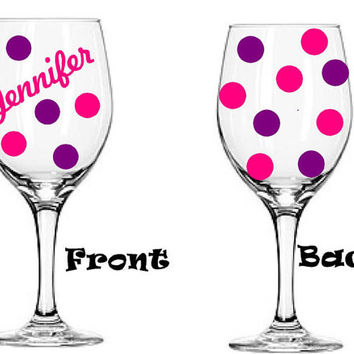 Name - Personalized - Large 20oz Stemmed or 21oz stemless Wine Glass!  Birthday Gift! Custom wine glass - Wedding gifts - Bridal Party