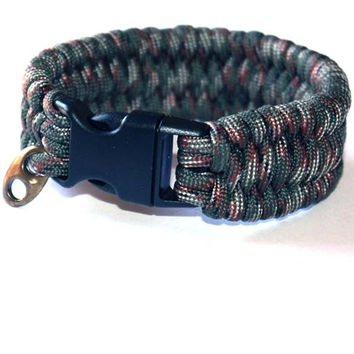 Men Survival Bracelet - For him, black, gift ideas, paracord, man gift ideas, boy, teen, boyfriend, friend, brother, parachute, camuflage
