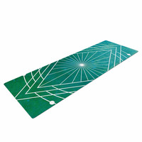 "Matt Eklund ""Atlantis"" Teal Geometric Yoga Mat"
